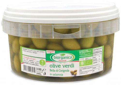 Gastronomia da banco - olive verdi bella di cerignola in salamoia 3.3 kg BIO
