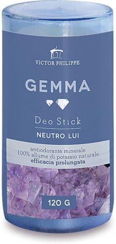 Gemma - antiodorante minerale maschile in stick 120 g BIO  (6 pezzi)