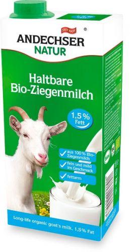Latte di capra parzialmente scremato uht 1 L BIO  (min. acquisto 10 pezzi)