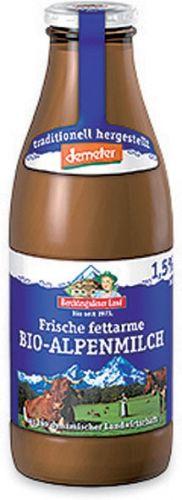 Latte fresco parzialmente scremato bottiglia 1 L BIO  (min. acquisto 10 pezzi)
