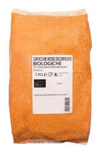 Lenticchie rosse decorticate 5 kg BIO