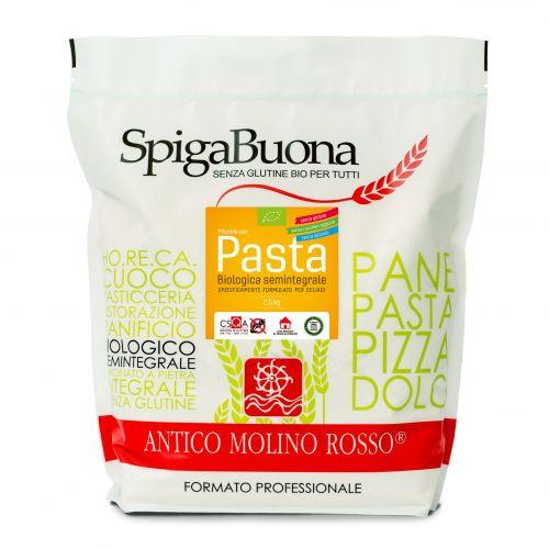 Miscela per pasta semintegrale 2.5kg BIO senza glutine e lattosio