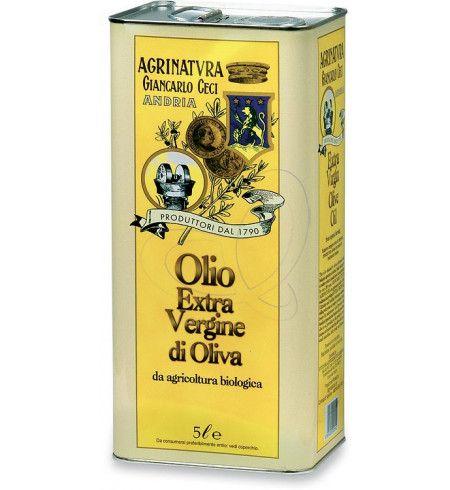 Olio extravergine di oliva in latta 5 L BIO