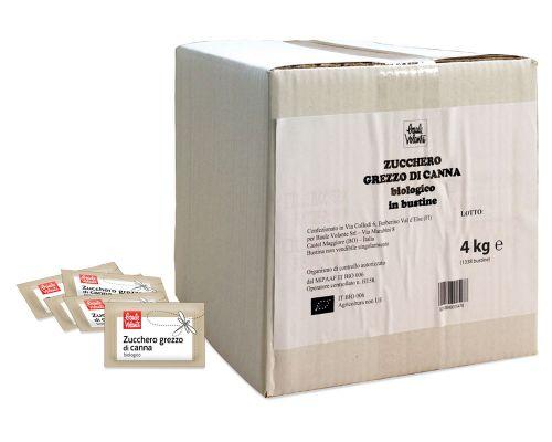Zucchero grezzo di canna 1338 bustine 4 kg BIO