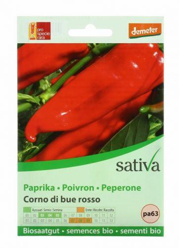 Peperone - corno di bue rosso 0.4 g BIO  (min. acquisto 10 pezzi)