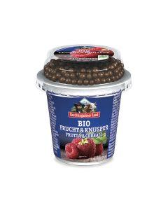 Frutta e cereali: lamponi con palline di cioccolato e cereali 150 g BIO  (min. acquisto 10 pezzi)