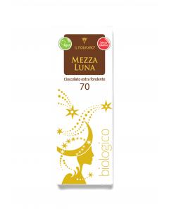 Mezza luna - cioccolato extra fondente 70% 60 g BIO senza glutine