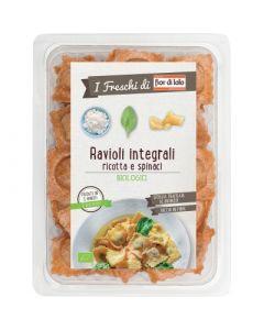 Ravioli integrali con ricotta e spinaci 250 g BIO  (min. acquisto 10 pezzi)