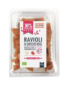 Ravioli di lenticchie rosse con tofu e pomodorini secchi 250 g BIO  (min. acquisto 10 pezzi)