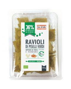 Ravioli di piselli verdi con tofu e verdure 250 g BIO  (min. acquisto 10 pezzi)