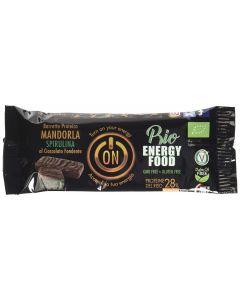 Prima e dopo - barretta proteica mandorla e spirulina ricoperta di cioccolato fondente 40 g BIO senza glutine