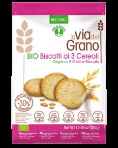 Biscotti ai tre cereali La Via del Grano BIO