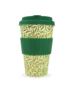 Ecoffee cup - wm willow with dark green silicone da 400 ml - in scatola regalo - limited edition 130 g (6 pezzi)