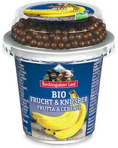 Frutta e cereali: banana con palline di cioccolato e cereali 150 g BIO  (min. acquisto 10 pezzi)