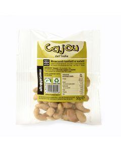 Anacardi Cajou Tostati E Salati 50 g (min. acquisto 10 pezzi)