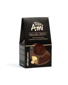 Nocciole Ricoperte Di Cioccolato Fondente Très Ami 135 g (min. acquisto 10 pezzi)