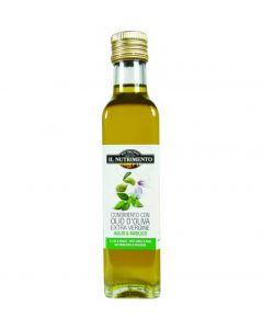 Condimento aglio e basilico con olio extravergine d'oliva 250 ml BIO (min. acquisto 10 pezzi)