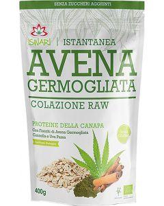 Avena germogliata e proteine della canapa 400 g BIO senza glutine