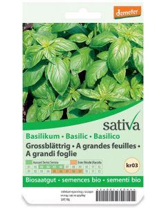 Basilico grandi foglie 1.25 g BIO