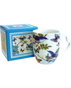 Bird blu - mug con scatola regalo coordinata 400 g (min. acquisto 10 pezzi)