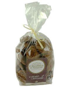 Biscotti al Cacao e Nocciole 300g (min. acquisto 10 pezzi)