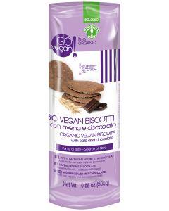 Biscotti con avena e cioccolato GoVegan 300 g BIO