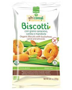 Biscotti senza glutine di grano saraceno con carota e mandorle Altri Cereali 250 g BIO