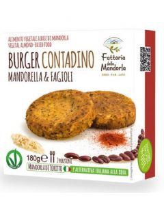 Burger contadino con mandorella e fagioli 180 g BIO (min. acquisto 10 pezzi)