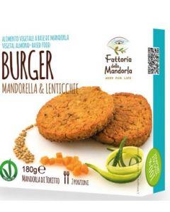Burger mandorella e lenticchie 180 g BIO (min. acquisto 10 pezzi)