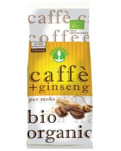 Caffè + ginseng per moka 250 g BIO
