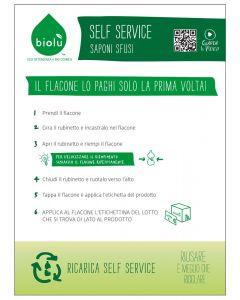 Cartello self-service (cm.50x70) 150 g (6 pezzi)
