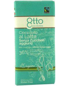 Cioccolato al latte al Maltitolo 36% 100g BIO senza glutine