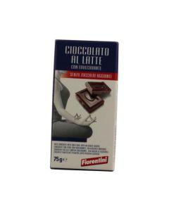 Cioccolato al Latte senza Zucchero 75g