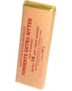 Cioccolato Fondente extra (75%) con Fruttosio 100g
