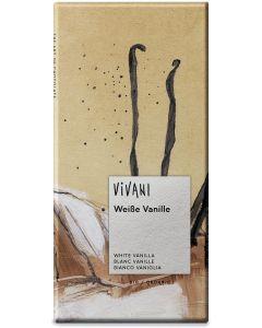Cioccolato bianco alla vaniglia 80 g BIO  (min. acquisto 10 pezzi)