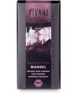 Cioccolato fondente con mandorle 100 g BIO  (min. acquisto 10 pezzi)