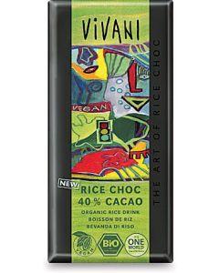 Cioccolato rice choc 40% cacao 100 g BIO  (min. acquisto 10 pezzi)