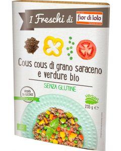 Cous cous di grano saraceno e verdure 235 g BIO senza glutine  (min. acquisto 10 pezzi)