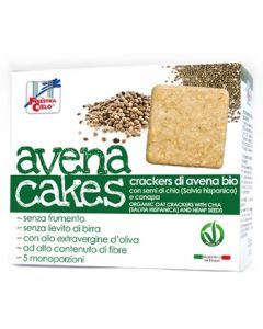 Cracker di avena con semi di chia e canapa AvenaCakes 250 g BIO