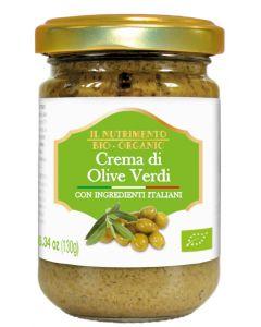 Crema di olive verdi 130 g BIO (min. acquisto 10 pezzi)