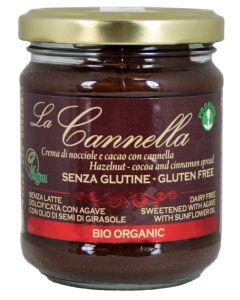 """Crema spalmabile con cannella nocciole """"La Cannella"""" 200 g BIO (min. acquisto 10 pezzi)"""
