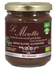 """Crema spalmabile gusto fondente senza latte """"La Moretta"""" 200 g BIO (min. acquisto 10 pezzi)"""