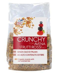 Crunchy con avena e frutti rossi 375 g BIO