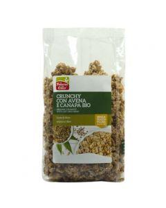 Crunchy con avena e semi di canapa 375 g BIO