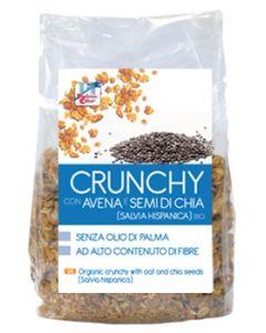 Crunchy con avena e semi di chia 375 g BIO