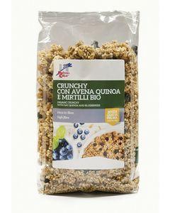 Crunchy con avena quinoa e mirtilli 375 g BIO