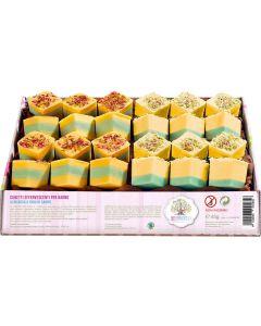 Cubetti effervescenti in vassoio albicocca e fiori di campo 60 g BIO  (min. acquisto 10 pezzi)