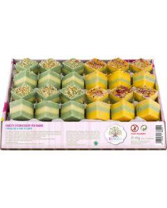Cubetti effervescenti in vassoio fiordaliso e fiori di campo 60 g BIO  (min. acquisto 10 pezzi)