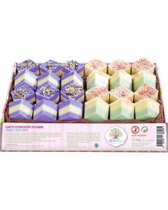 Cubetti effervescenti in vassoio fragole e fichi e rosa 60 g BIO  (min. acquisto 10 pezzi)