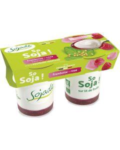 Dessert di soia con frutta al lampone e rosa 2x125 g BIO  (min. acquisto 10 pezzi)
